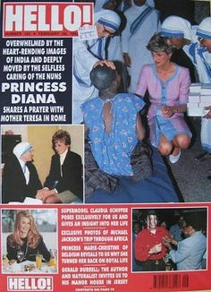 1992 edition Hello! magazine. Front cover photo - Princess Diana in India 1992.