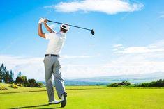 Man Playing Golf - Stock Photo , #AD, #Playing, #Man, #Golf, #Photo #AD