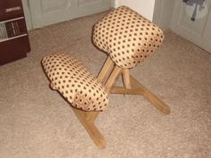 How to build a kneeling chair.  The kneeling chair is a saviour of your back. Learn how to make a kneeling chair yourself and save money!