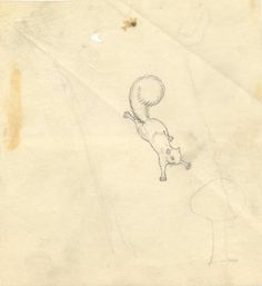 'F' is for Flying Squirrel: Maud and Miska Petersham, sketch for 'An American ABC'.