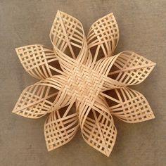 xxl Woven Star Christmas ornament extra large by Baskauta27