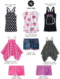JC Penney Total Girl Spring looks for tween girls, clothes for tween girls, Total Girl