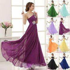 One shoulder chiffon dress
