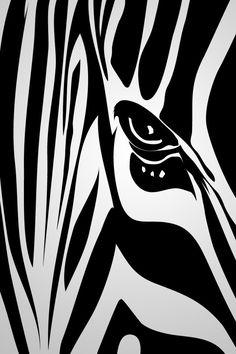 Don't u just think of SOMEONE when u see a picture of a zebra. Zebra Art, Outline Designs, Reclaimed Wood Art, Painted Cups, Silhouette Art, Aboriginal Art, Wall Art Designs, African Art, Pop Art