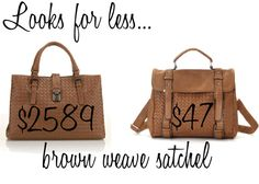 Looks for less: brown weave satchel