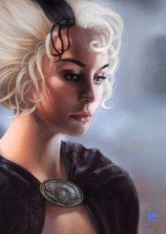 This is a good likeness of Susan StoHelit, Death's granddaughter, from the Discworld books. Discworld Characters, Discworld Books, Fantasy Characters, Fantasy Books, Fantasy World, Fantasy Art, Character Inspiration, Character Art, Character Portraits