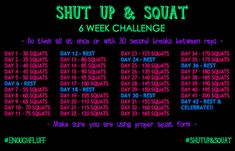 Squat Challenge Posters