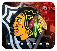 Chicago Blackhawks Mouse Pad by Hunter. $11.95. Non-slip pad ensures the mouse pad stays where you want it.  Perfect addition to any fan's home or office.  Unique design features vibrant team colors and logos.
