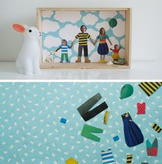 This family portrait collage would be fun to do with each year's school pictures. #DIY #tutorial #craft