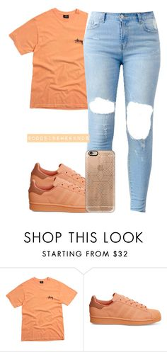 """8/12/16"" by codeineweeknds ❤ liked on Polyvore featuring Stussy, adidas and Casetify"