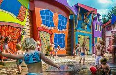 De waterspeeltuin bij Het Land van Jan Klaassen