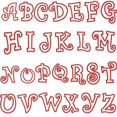 Alphabet Letters In Girly Fonts Cute Fonts Alphabet, Bubble Letter Fonts, Design Alphabet, Alphabet Letters, Creative Lettering, Lettering Styles, Graffiti Lettering, Typography Letters, Font Styles