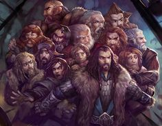 10 Cool Hobbit Fan Art Creations - The Dwarves and Bilbo