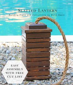 Build a Slatted Lantern - Building Plans by @BuildBasic www.build-basic.com