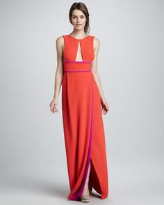 ShopStyle: BCBG MAX AZRIATwo-Tone Cutout Gown