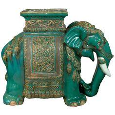 Chinese ceramic elephant table