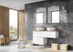Kolekcja mebli łazienkowych Look. #naszemeblenaszapasja #elita #meble #łazienka #meblełazienkowe #elitameble Double Vanity, Bathroom, Washroom, Bathrooms, Bath, Double Sink Vanity