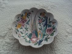 Lovely hand painted trinket bowl from Portugal by WhiskeysWhims on Etsy