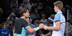 Rafael Nadal, après sa victoire sur Kevin Anderson lors du Tournoi de Paris Bercy (4-6, 7-6 [6], 6-2).