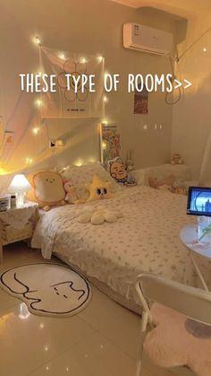 Room Design Bedroom, Room Ideas Bedroom, Bedroom Decor, Bedroom Designs, Study Room Decor, Cute Room Decor, Pastel Room, Small Room Design, Indie Room
