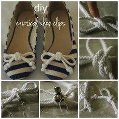 Diy nautical shoe clips #diy #craft #crafting
