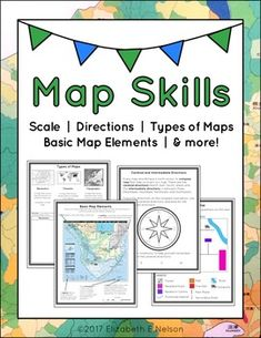 Engaging map skills activities map skills cardinals and scale map skills package gumiabroncs Choice Image