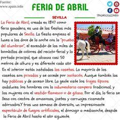 Feria de Abril. Ganadero - stockbreeder, Recinto - area, Indumentaria - attire, Campera - leather jacket, Amazona - horsewoman, Carruaje - carriage.
