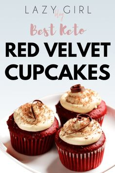 Sugar-free gluten-free and low carb Keto Red Velvet Cupcakes with cream cheese f. - Sugar-free gluten-free and low carb Keto Red Velvet Cupcakes with cream cheese frosting. These Keto - Keto Cupcakes, Cupcakes With Cream Cheese Frosting, Cupcake Recipes, Buttercream Frosting, Chocolate Buttercream, Girl Cupcakes, Chocolate Cream, Mocha Cupcakes, Gourmet Cupcakes