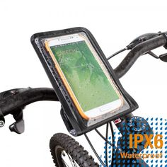Satechi Pro RideMate Bike Mount (Waterproof Black) for iPhone 6, 5S, 5C, 5, 4S, HTC One, HTC EVO, HTC Inspire 4G, HTC Sensation, Droid X, Droid Incredible, Droid 3, Samsung EPIC, Galaxy S4, S5, S6, S6 Edge S7, S7 Edge, Note 3