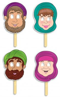 The Story of Ruth! Bible Character Masks
