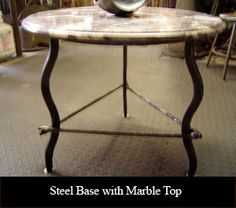 Steel Base with Marble Top