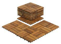 Bare Decor EZ-Floor Wood x Interlocking Flooring Tile Trim in Teak Ipe Wood, Teak Wood, Wood Patio, Wood Planks, Teak Flooring, Hardwood Floors, Balcony Flooring, Shower Floor, Tile Floor