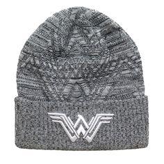 Wonder Woman Movie Symbol Knit Pattern Beanie ~ one size fits most