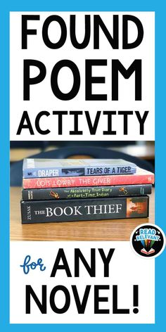 Want to engage even your most reluctant writers in poetry? Try a found poem as a way to get them started. This activity is great for any novel. Students love it! Found poems can make great displays as well.
