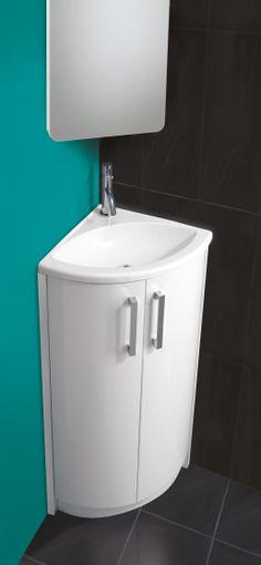 Cloakroom Basins : Wave Corner Basin & Vanity Unit
