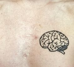 minimalist tattoos for women Mini Tattoos, New Tattoos, Small Tattoos, Brain Tattoo, Tattoo You, Psychology Tattoo, Psychology Memes, Psychology Books, Anatomical Tattoos