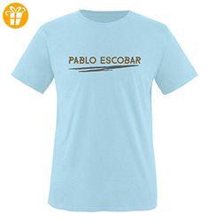 Comedy Shirts - Pablo Escobar - NARCOS - Herren T-Shirt - Royalblau / Hellbraun-Grau Gr. XL - Shirts mit spruch (*Partner-Link)
