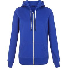 Bright Blue Basic Zip Front Hoodie ($23) ❤ liked on Polyvore featuring tops, hoodies, jackets, blue, petrol blue, blue long sleeve shirt, hooded sweatshirt, blue zip up hoodie, sweatshirts hoodies and pocket shirt