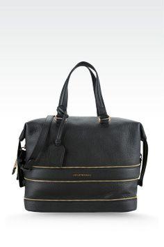 4926bb3231da Emporio Armani Women Top Handle - Bag With Decorative Zips Emporio Armani  Official Online Store