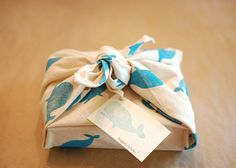 DIY wrapping 'paper' from fabric