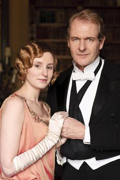 """Lady Edith and Sir Antony Strallan, who left her at the alter at their wedding because he said """"I'm far too old for you,"""" which we all have to admit, he was."""