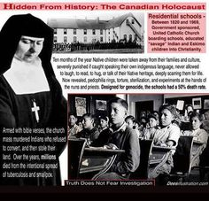 Indian boarding schools: Auschwitz in Canada and US Indian Boarding Schools, Indian Residential Schools, Native Child, Canadian History, American History, Months In A Year, History Books, Social Studies, Christianity