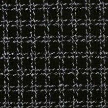 Italian Black & White Plaid Wool Boucle, $20 at Mood