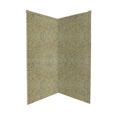 Transolid�38-in W x 96-in L x 38-in H Decor Desert Earth Shower Wall Surround Corner Wall Panels