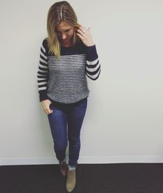 Day 5 #livingthegreen casual Frday outfit! Tommy Hilfiger jumper, Mavi jeans and Jo Mercer boots all bought this year, ring from Rome in 2014. #sunonmyparade