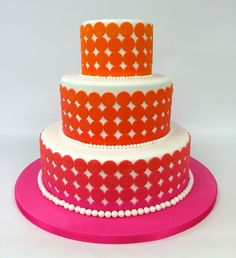 Don't be afraid to add color to your wedding cake! Embrace the bold! #carlosbakery