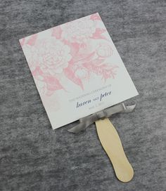 DIY Rose Scrolls Paddle Fan Wedding Program Template Add Your Text And Print