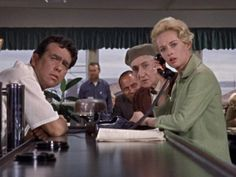 """The Birds""-Alfred Hitchcock: Rod Taylor, Tippi Hedren"