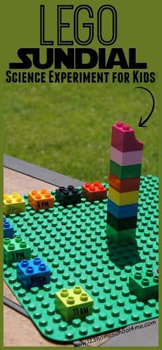 LEGO Sundial Science Experiment plus many other fun hands on science activities for learning about the sun and our solar system for preschool, kindergarten, 1st grade, 2nd grade, 3rd grade, 4th grade and more (astronomy, homeschool,) #learnmathonline