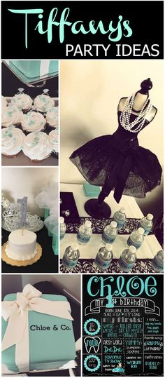 How fun to have a Tiffany theme for a first birthday!  See more party ideas at CatchMyParty.com!
